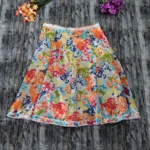 Christopher & Banks lightweight floral skirt